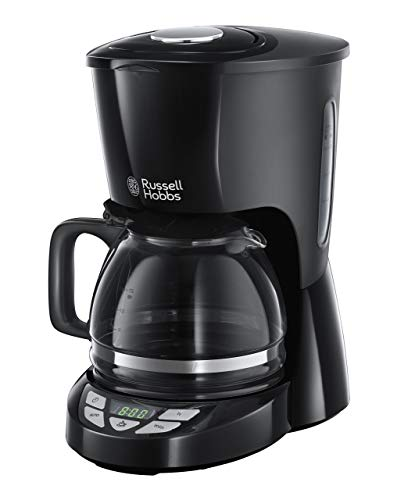 Russell Hobbs Digitale Kaffeemaschine Textures+, programmierbarer Timer, bis 10 Tassen, 1,25l Glaskanne, Warmhalteplatte, Abschaltautomatik, Tropf-Stopp, 975W, Filterkaffeemaschine 22620-56 -