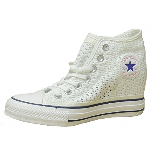 Converse Keil Damen-sneaker, (CONVERSE Frau mit inneren Keil 552697C 37 Bianco)