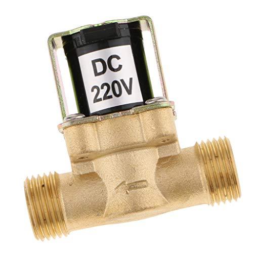 F Fityle DC 220V Magnetventil Mini Elektrisches normalerweise geschlossenes Wasserventil - 220v Dc Wasser