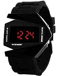 Xurious Enterprise Round Dial Digital Black Dial Black Rubber Strape Fashion Wrist Watch For Boys & Men | XE-Rocket-LED