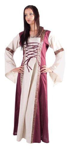 (Bäres Mittelalter Kleider kleine Maid - Kinder Akiria für 9-11 jährige/natur / bordeaux)