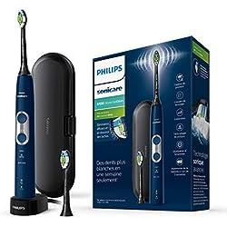 Philips Sonicare HX6871/47 Brosse à dents électrique rechargeable ProtectiveClean 6100 - Bleu Marine