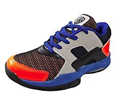 Port Mens Casto Force Blue PVC Badminton Sports Shoes( Size 8 Uk/IND)
