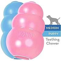 KONG - Puppy - Juguete de caucho natural para dentición - Cachorro M (colores pueden variar)