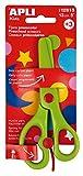 Apli Kids 12815 Ciseaux préscolaires vert - lame en plastique de 13 cm