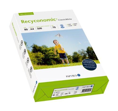 Papyrus 88031811 Multifunktionspapier Recyconomic ClassicWhite 80 g/m², A4 500 Blatt weiß