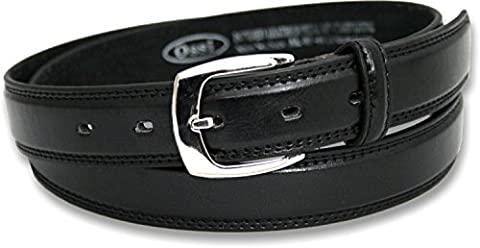 Ossi Leather Lined 28mm Childrens Belt - Black 2XS (24