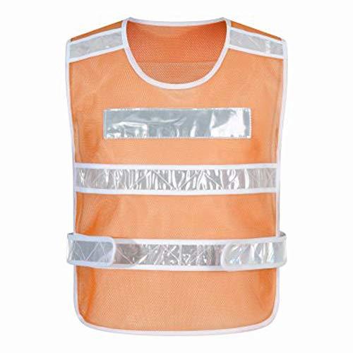 CRRQQ Reflektorweste - Warnwesten, reflektierende Westen für Nachtaktivitäten im Freien oder Bauarbeiter-Kostüm (Color : Orange)