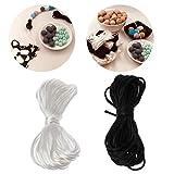 Jiamins 5m Cordon en nylon Chaîne de bricolage fil mamelon collier Chaîne sucette accessoires, 1,5 mm de diamètre(Blanc)