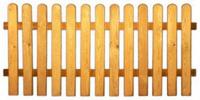 StaketenZaun \'Standard\' 180x85/85 cm - gerade – kdi / V2A Edelstahl Schrauben verschraubt - aus frischem Holz gehobelt – gerade Ausführung - kesseldruckimprägniert