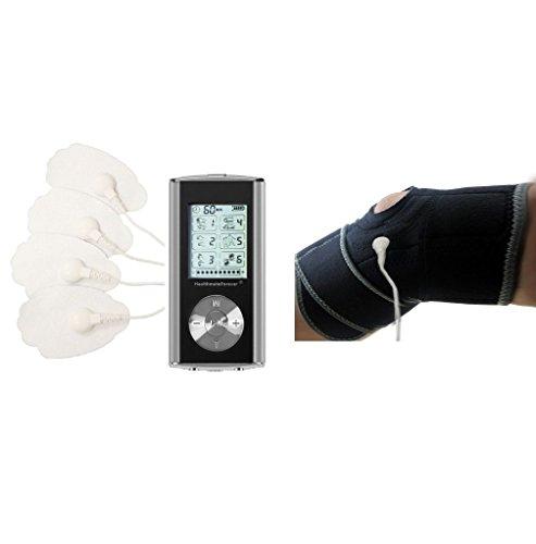 HealthmateForever 6 Modi Muskelkater Relief ImpulsMassager Silber (Leg Relief Creme)