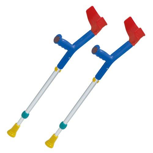 2x REBOTEC FUN-KIDS Unterarm-Gehstützen made in Germany Gehilfen Krücken für Kinder in blaubunt