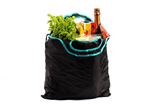 gripOne® Shopper Mint - faltbare Einkaufstasche mit Zuzieh-Beutel, extrem reißfest, ultra leicht und kompakt (Falt-shopper)