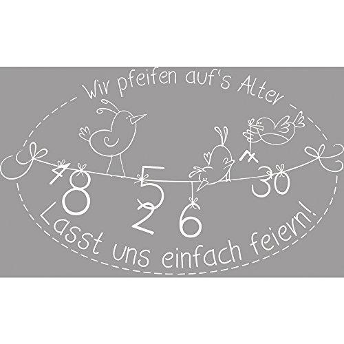 Rayher Hobby RAYHER 28293000 Holz Stempel Wir pfeifen auf\'s Alter, 6 x 9 cm