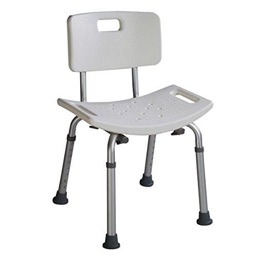 Duschstuhl Badehocker Badestuhl Duschhocker Duschsitz Badhilfe 8-fach höhenverstellbar mit oder ohne Rücklehne (Modell 2)