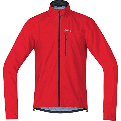 Gore Wear Chaqueta Impermeable de Ciclismo para Hombre, L, Rojo, 100034