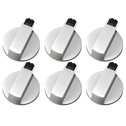 6 Stk 6MM Universal Metall Rotary Schalter Steuer Knöpfe Ersatz Zubehör für Küche Herd Gas Herd Ofen Koch -