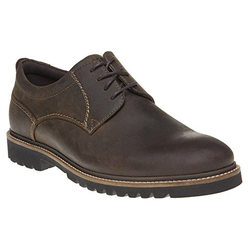 Rockport Marshall Plaintoe Oxford, Chaussures à lacets homme Brown (Brown Oiled Leather)