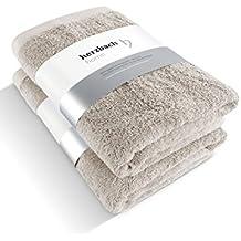 Herzbach Home - Juego de baño, calidad premium, toalla de ducha (2 toallas