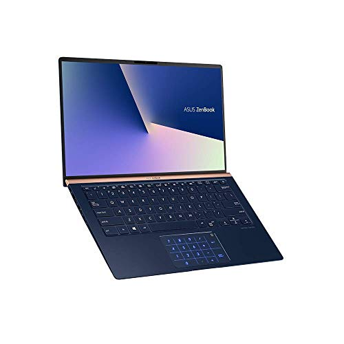 ASUS ZenBook 14 UX433FN 90NB0JQ2-M04820 Ultrabook (35,5 cm, 14 Zoll, FHD, WV, Intel Core i7-8565U, 16GB RAM, 512GB SSD, NVIDIA GeForce MX150 (2GB), Windows 10) Royal Blue