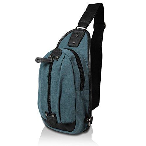 Glamexx24 Sac unisexe sac ¨¤ bandouli¨¨re ¨¦paule sac ¨¤ dos cas bleu