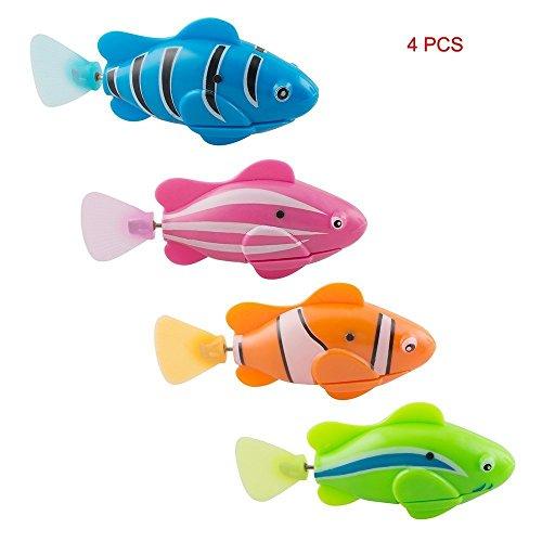 risingmed flammig Schwimmen Roboter Fisch, aktiviert in Wasser Magical Elektronisches Spielzeug Kinder Geschenk, Mini lebensecht Robotic Fisch, Fisch Aquatic batteriebetrieben (Roboter-fisch)