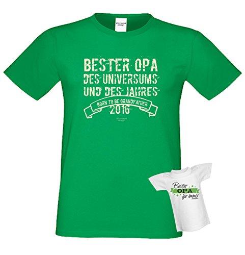 Bester Opa des Universums Geschenk Vatertag Sprüche Fun T-Shirt & Flaschenshirt Farbe: hellgrün Hellgrün