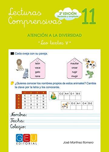 Lecturas comprensivas 11 - Leo Textos V por José Martínez Romero