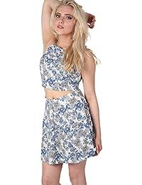 PILOT® Women's Floral Print A-Line Mini Skirt in Blue