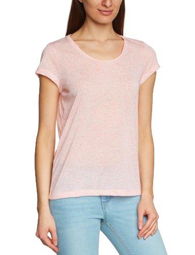 SELECTED FEMME Damen T-Shirt 16029985 BARBARA SS TEE, Rundhals Orange (fresh coral)