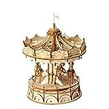 ZLD Spielzeug 3D-Puzzle, Karussell-Modell, Holzhandwerk, Holz Puzzle, Handgefertigte Geschenke, Dekorationen, Minimalistischer Stil