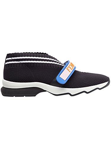 Fendi-Womens-8E6701ODHF070H-Black-polyamide-Slip-On-Sneakers