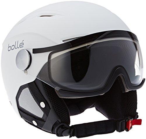 Bollé Skihelm Backline, Uni, Backline Visor Soft White & Silver with Modulator Grey Visor, 56-58cm