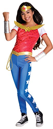 Rubie's 3620716 - DC Super Hero Girls Wonder Woman Deluxe Kinderkostüm (Gürtel Woman Kostüm Wonder)