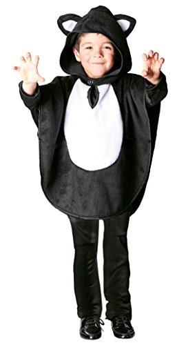 Für Lustige Kostüme Katzen (Katze Kostüm Cape für Kinder Gr. 98 - 116,)
