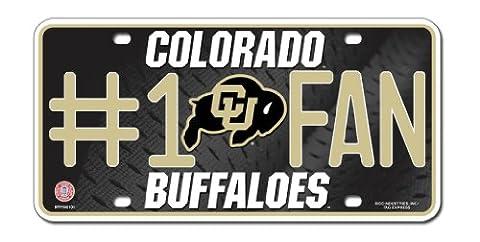 NCAA Colorado Buffaloes #1 Fan Metal Tag License Plate
