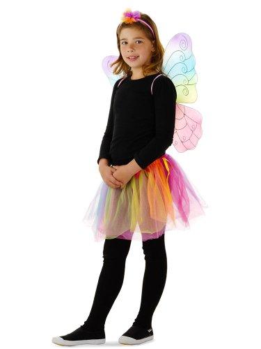 Folat 21826 -Blumen-Fee - Rock mit Flügeln, Fits Alle, (Kinder Für Fee Kostüm Blumen)