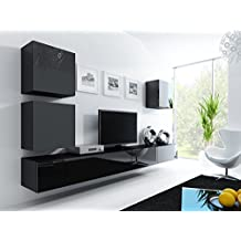lowboard haengend cool lowboard haengend with lowboard haengend cool wohnwand u vigo u. Black Bedroom Furniture Sets. Home Design Ideas
