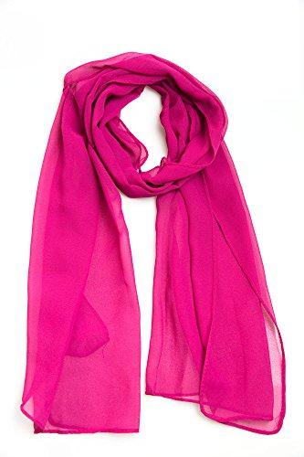 100% Viskose Frühlingsschal Sommerschal Schal Halstuch Unifarben (einfarbig) Schal in verschiedenen Farben (pink)