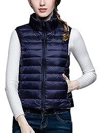 b63ab93a105b CX-Store Femmes Doudoune Manteau Manteau Gilet Ultraléger Emballable Gilets  sans Manches Body Warmers
