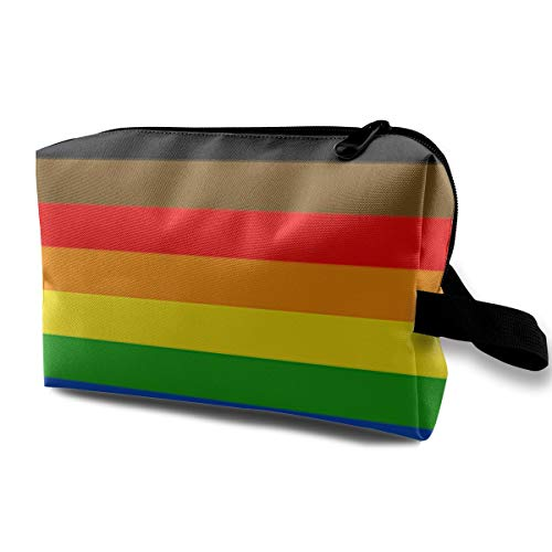 Travel Cosmetic Bag There's A New Pride Flag In Town Mini Makeup Pouch for Women Girls ()