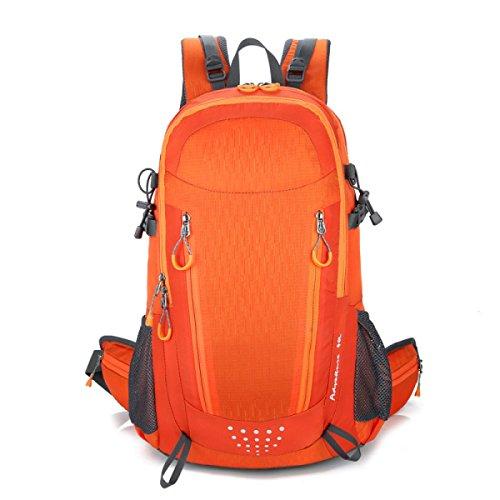 Große Camping Rucksack Tasche Für Camping Wandern Radfahren Bergsteigen Outdoor Sport,Blue Orange