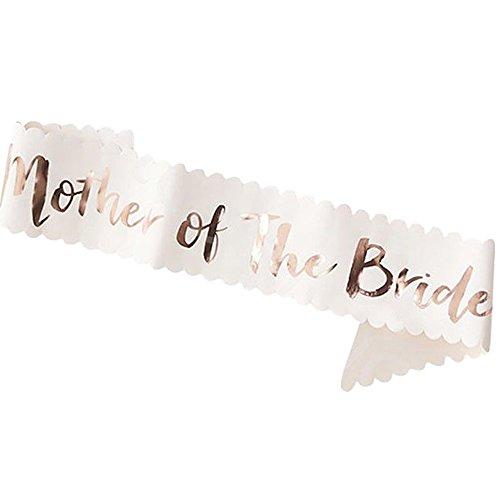 Xiton Bachelor Party Champagner Etikette Gürtel Hochzeit Gold Wort Braut Brautjungfer Schultergurt (Mutter der Braut) 1PC - Stilvolle Mutter Der Braut