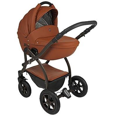 Classico Trido Eco Leder - Moderner Kinderwagen im exclusiven Design - Kombi Kinderwagen 2 in 1 mit Adapter für MaxiCosi Babyschale und viel Zubehör