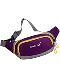 Generic Unisex Waterproof Sport Fanny Pack Waist Bum Bag Fitness Running Jogging Belt Chest Pouch - Purple