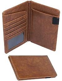 6ab2e0cedec DAHSHA Leather Travel Passport Holder Wallet Credit Debit Card Holder  Organiser for Men and Women