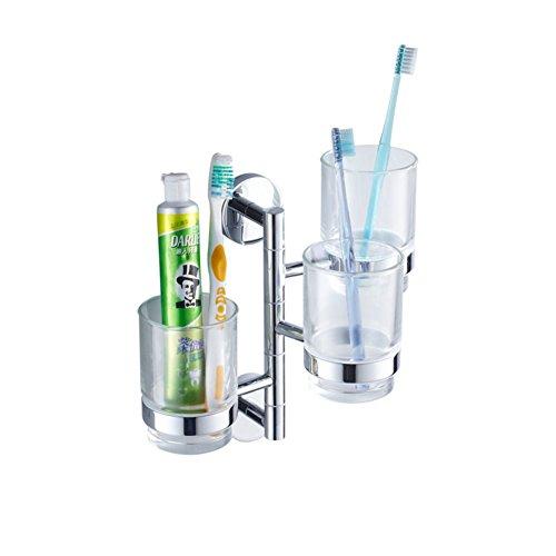 Alle Kupfer Zahnbürste Tasse Spülen Sie das Glas Bad Aktivität drei Stiletto Faltung Zahnbürste Tumbler Inhaber-frei-A
