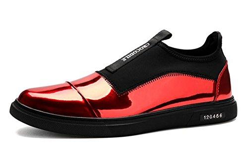 Scarpe Uomo Scarpe Uomo Scarpe Skateboard Scarpe Casual Scarpe In Pelle Di Pelle Di Trend Di Scarpe Di Piedi Red