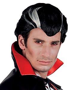 Boland Hombre blanco y negro vampiro Peluca - One Size