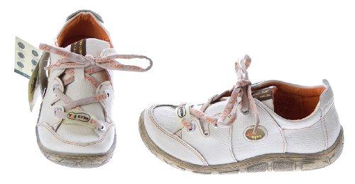 Damen Leder Halb Schuhe Comfort Sneakers Schwarz Grün Rot Grau Weiß Used Look Turnschuhe TMA Eyes Weiß